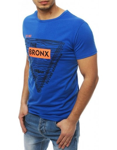 Modré pánské tričko s potiskem RX3993