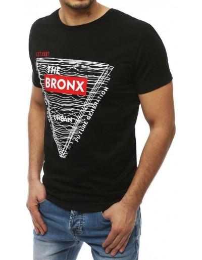 Černé pánské tričko s potiskem RX3994