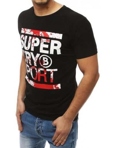 Černé pánské tričko s potiskem RX3996