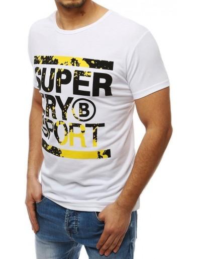 Bílé pánské tričko s potiskem RX3997