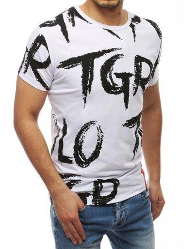 Bílé pánské tričko s potiskem RX3998