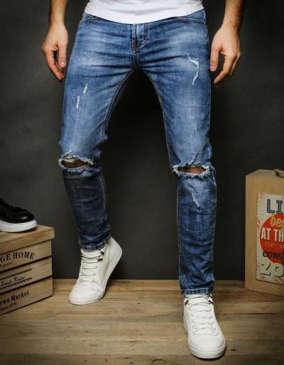 Pánské modré džínové kalhoty UX2386