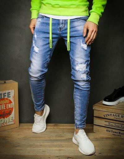 Pánské modré džínové kalhoty UX2389