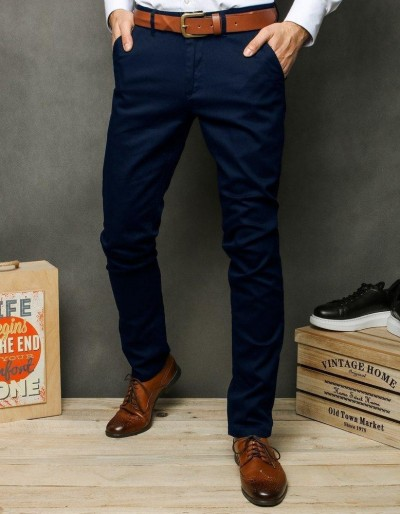 Pánské tmavě modré chino kalhoty UX2391
