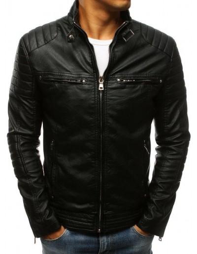 Černá pánská kožená bunda TX3265