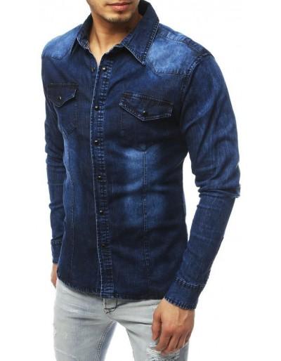 Námořnická modrá pánská košile DX1837
