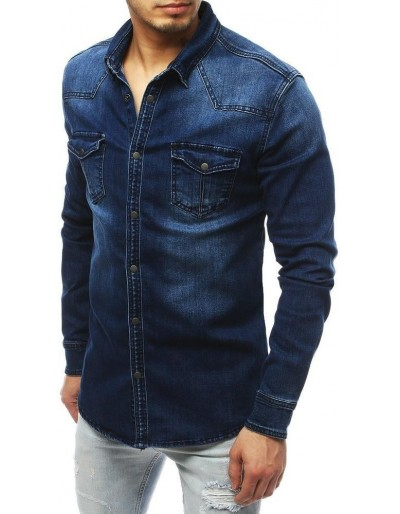 Námořnická modrá pánská košile DX1838