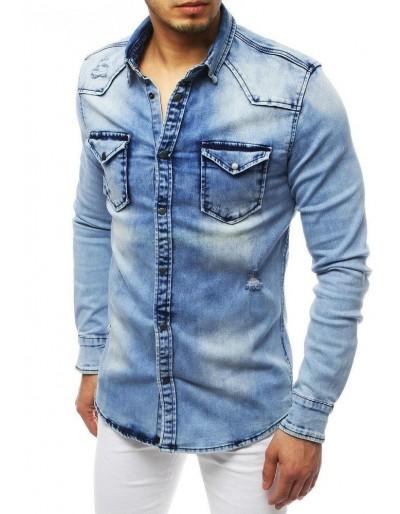 Pánská riflová modrá košile DX1839