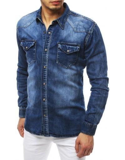 Pánská riflová modrá košile DX1842