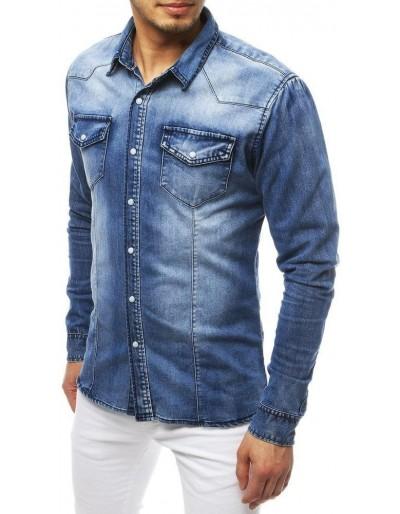 Pánská riflová košile modrá DX1844