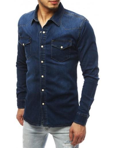Námořnická modrá pánská košile DX1845
