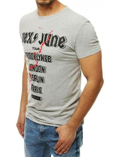 Bílé pánské tričko RX4001 s potiskem