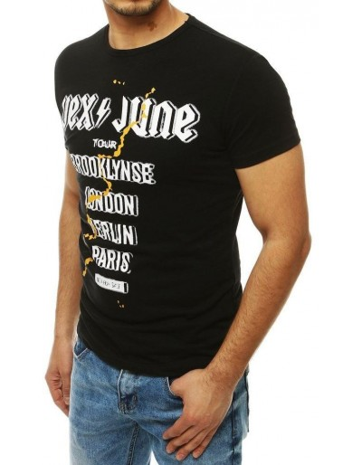 Černé pánské tričko RX4003 s potiskem
