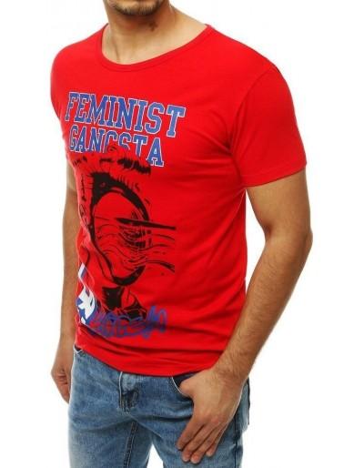 Pánské tričko s potiskem RX4006 červené