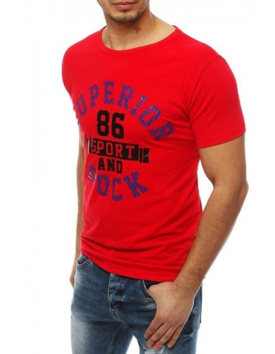 Červené pánské tričko RX4008 s potiskem