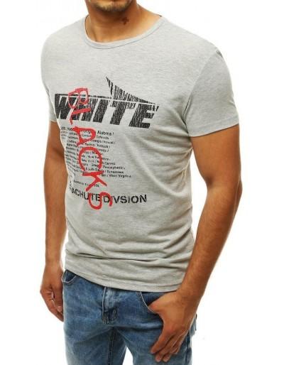 Světle šedé pánské tričko RX4020