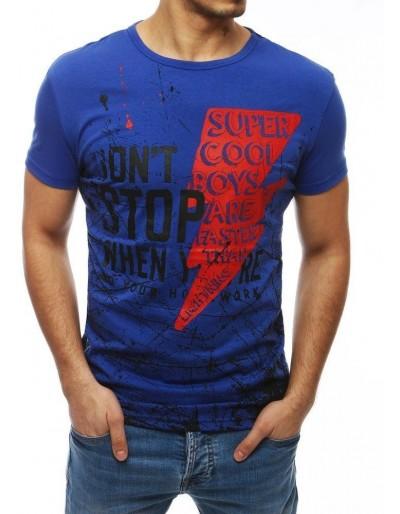 Modré pánské tričko RX4023