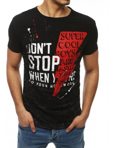 Černé pánské tričko RX4024 s potiskem