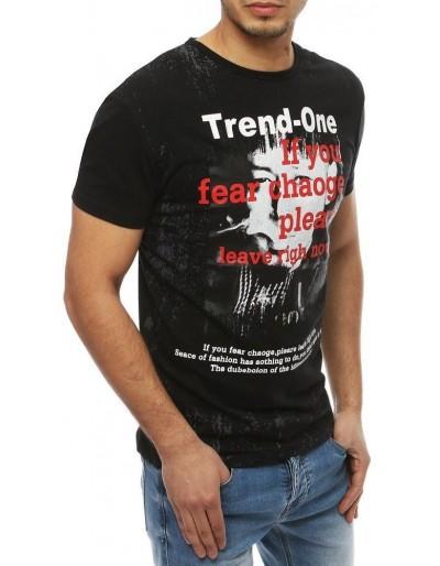 Černé pánské tričko s potiskem RX4027