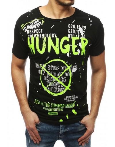 Černé pánské tričko RX4036 s potiskem