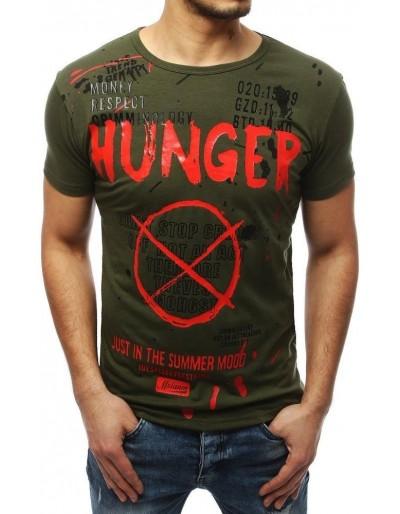 Zelené pánské tričko s potiskem RX4038