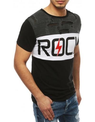 Černé pánské tričko RX4049 s potiskem