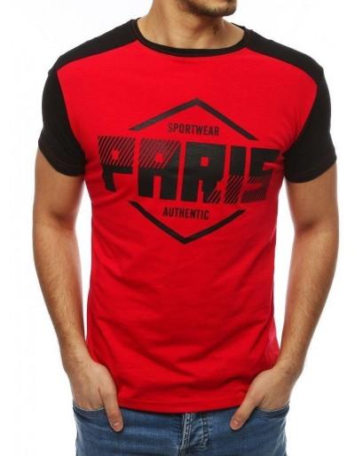 Pánské tričko s červeným potiskem RX4068