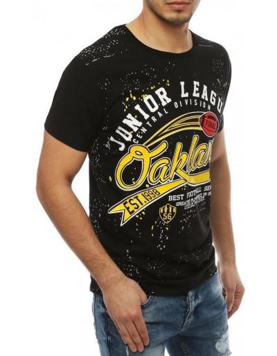 Černé pánské tričko RX4073 s potiskem