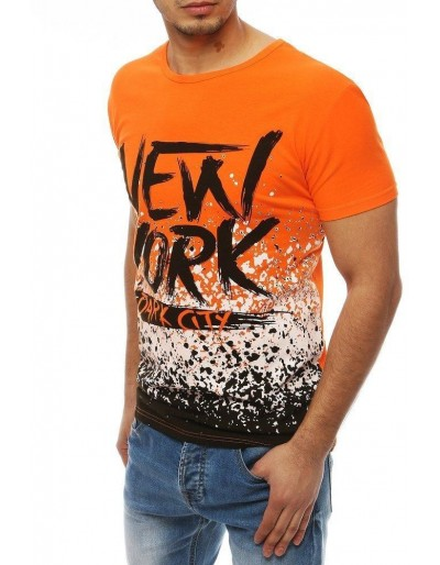 Oranžové pánské tričko RX4076