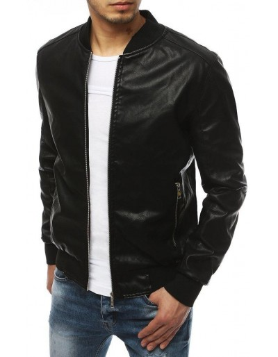 Černá pánská kožená bunda TX3275