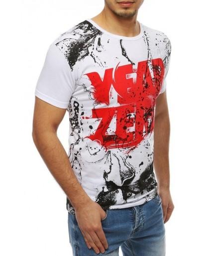 Bílé pánské tričko RX4080 s potiskem
