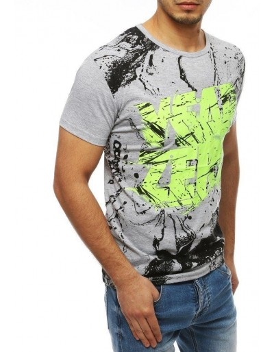 Šedé pánské tričko RX4082 s potiskem