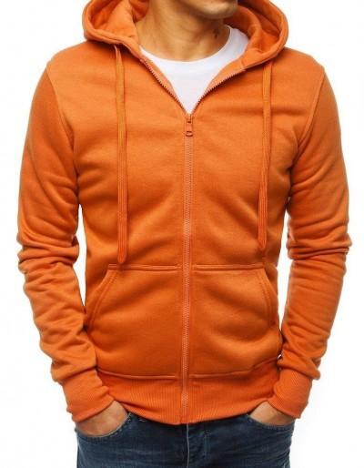 Oranžová pánská mikina s kapucí BX4500