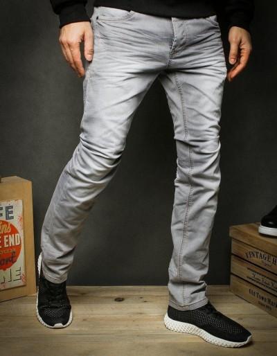 Spodnie jeansowe męskie szare UX2424
