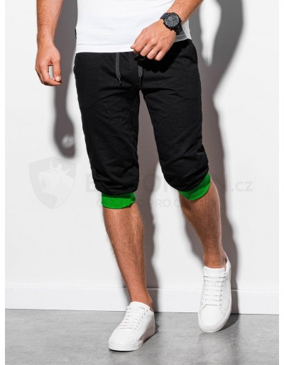 Men's sweatshorts P29 - black/green