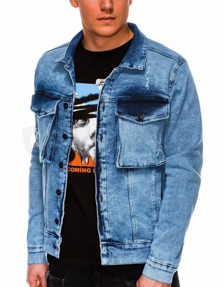 Pánská bunda střední sezóny C403 - lehké džíny