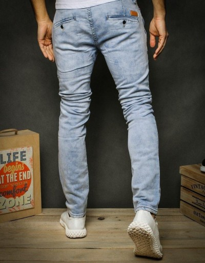 Spodnie jeansowe męskie niebieskie UX2426