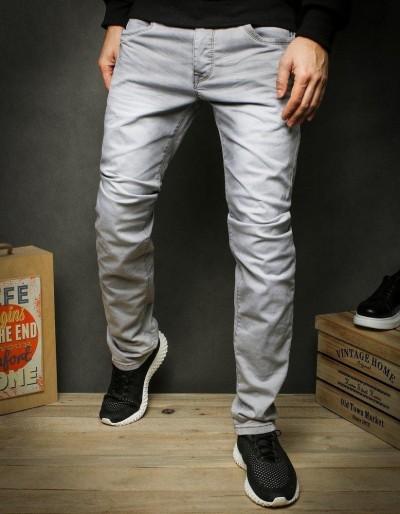 Světle šedé džíny pro muže UX2428