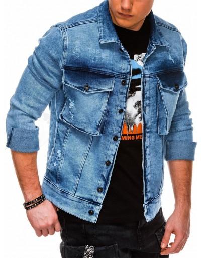 Men's mid-season jeans jacket C403 - light jeans