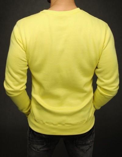 Bluza męska gładka żółta BX4505
