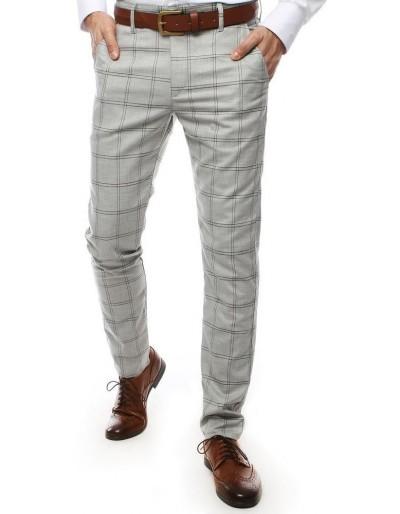 Světle šedé pánské kalhoty UX2444
