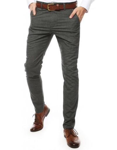Tmavě šedé pánské kalhoty UX2445