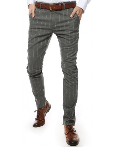 Světle šedé pánské kalhoty UX2446
