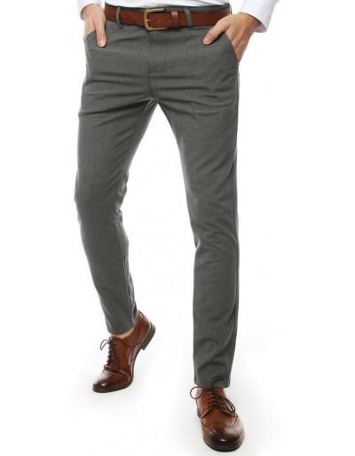 Světle šedé pánské kalhoty UX2450