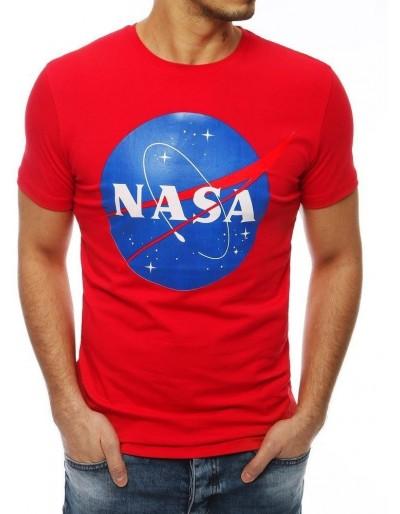 Červené pánské tričko s potiskem NASA RX4097