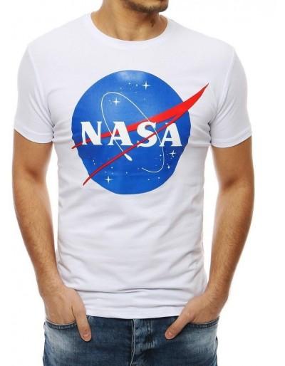 Bílé pánské tričko RX4100 s potiskem NASA