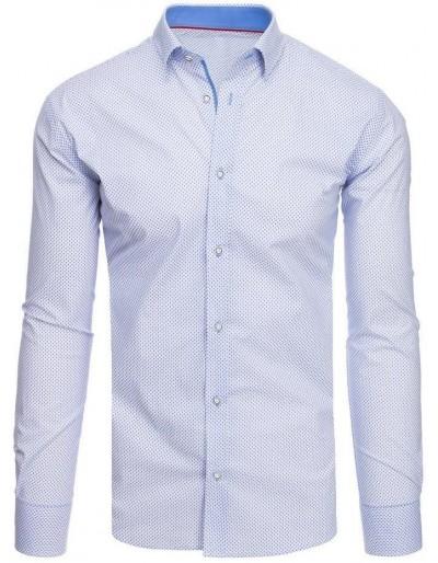 Bílé pánské tričko se vzory DX1871
