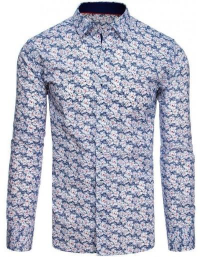 Bílé pánské tričko se vzory DX1872