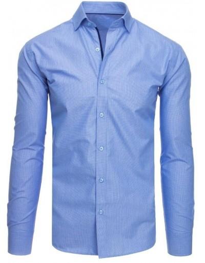 Pánská modrá kostkovaná košile DX1873