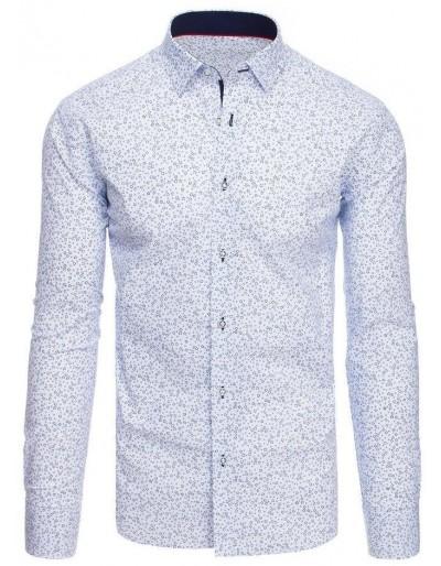Bílé pánské tričko se vzory DX1875